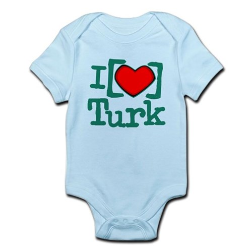 I Heart Turk Infant Bodysuit