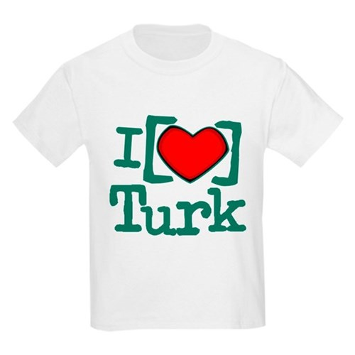 I Heart Turk Kids Light T-Shirt