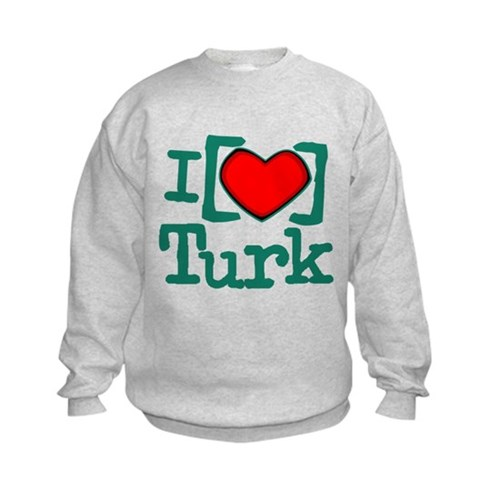 I Heart Turk Kids Sweatshirt