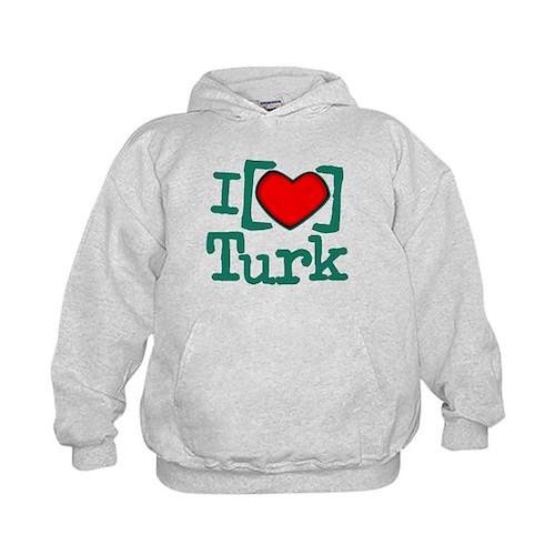 I Heart Turk Kids Hoodie