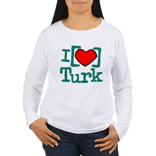 I Heart Turk Women's Long Sleeve T-Shirt