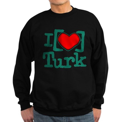 I Heart Turk Dark Sweatshirt