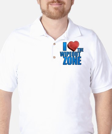 I Heart the Wipeout Zone Golf Shirt