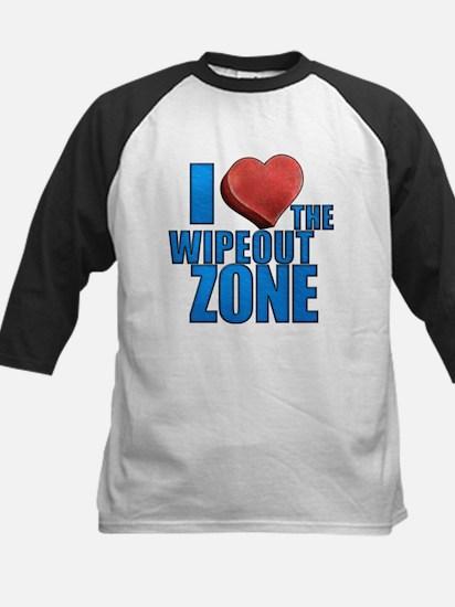 I Heart the Wipeout Zone Kids Baseball Jersey