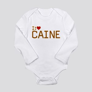 I Heart Caine Long Sleeve Infant Bodysuit