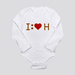 I Heart H Long Sleeve Infant Bodysuit