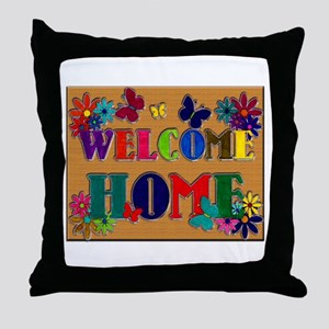 Welcome Home Sign Throw Pillow