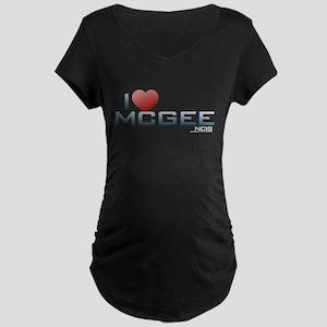 I Heart McGee Maternity Dark T-Shirt