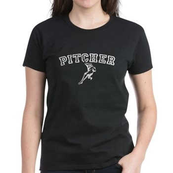 Pitcher - White Women's Dark T-Shirt