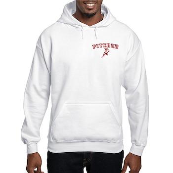 Pitcher - Red Hooded Sweatshirt