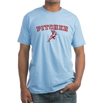 Pitcher - Red Fitted T-Shirt