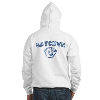 Catcher - Blue Hooded Sweatshirt