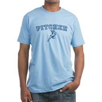 Pitcher - Blue Fitted T-Shirt