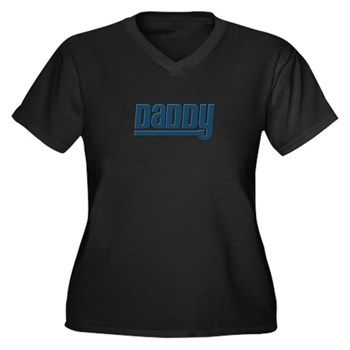 Daddy - Blue Women's Plus Size V-Neck Dark T-Shirt