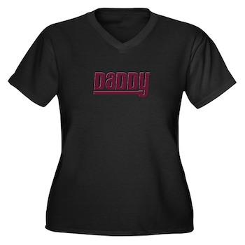 Daddy - Red Women's Plus Size V-Neck Dark T-Shirt