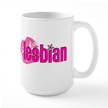 Lipstick Lesbian Large Mug