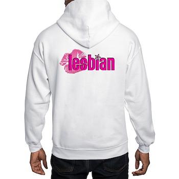 Lipstick Lesbian Hooded Sweatshirt