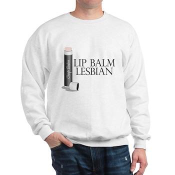Lip Balm Lesbian Sweatshirt