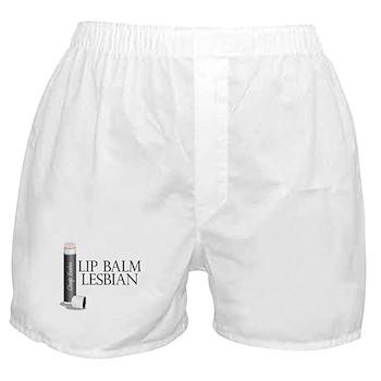 Lip Balm Lesbian Boxer Shorts