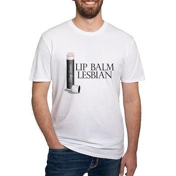 Lip Balm Lesbian Fitted T-Shirt