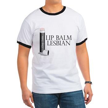 Lip Balm Lesbian Ringer T