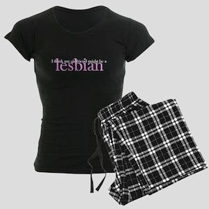 Girlfriend Might Be a Lesbian Women's Dark Pajamas