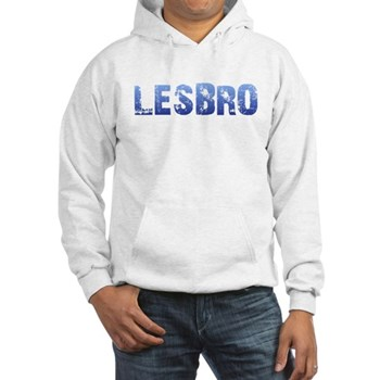 Blue Lesbro Hooded Sweatshirt