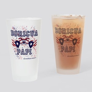 Boricua Papi Drinking Glass