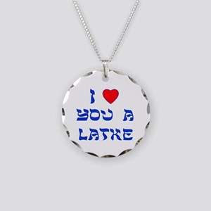 I Love You a Latke Necklace Circle Charm