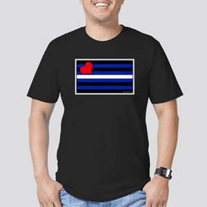 Leather Pride Flag Men's Fitted T-Shirt (dark)