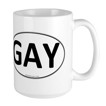 GAY Euro Oval Large Mug