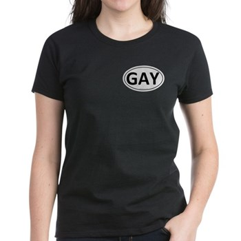 GAY Euro Oval Women's Dark T-Shirt