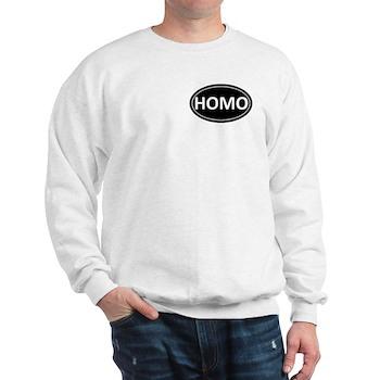 HOMO Black Euro Oval Sweatshirt