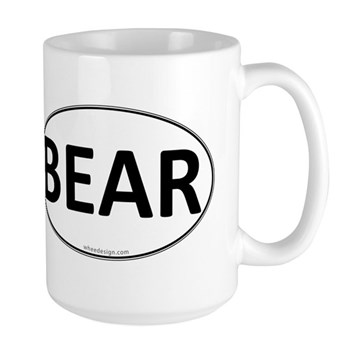 BEAR Euro Oval Large Mug