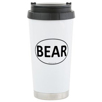 BEAR Euro Oval Stainless Steel Travel Mug