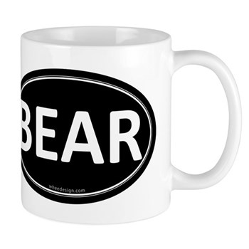 BEAR Black Euro Oval Mug