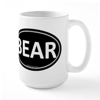 BEAR Black Euro Oval Large Mug