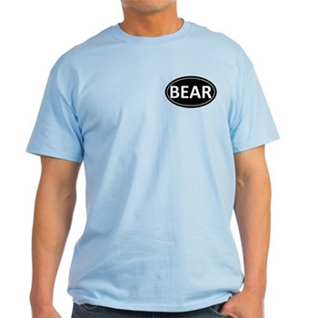 BEAR Black Euro Oval Light T-Shirt