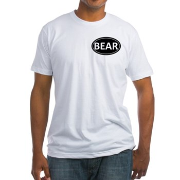 BEAR Black Euro Oval Fitted T-Shirt