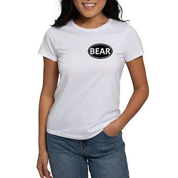 BEAR Black Euro Oval Women's T-Shirt