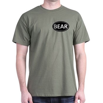 BEAR Black Euro Oval Dark T-Shirt