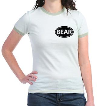 BEAR Black Euro Oval Jr. Ringer T-Shirt