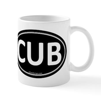 CUB Black Euro Oval Mug