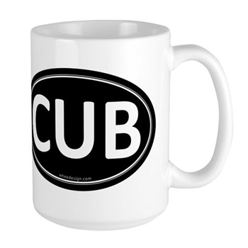 CUB Black Euro Oval Large Mug