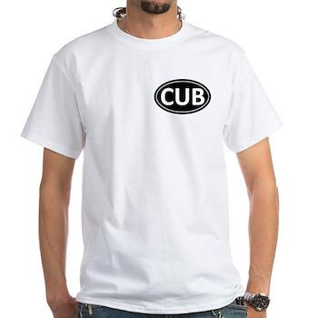 CUB Black Euro Oval White T-Shirt