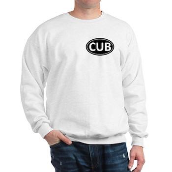 CUB Black Euro Oval Sweatshirt