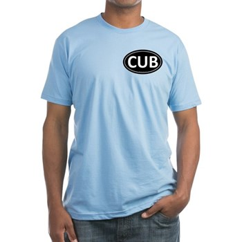 CUB Black Euro Oval Fitted T-Shirt