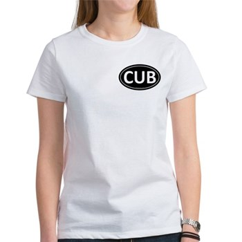 CUB Black Euro Oval Women's T-Shirt