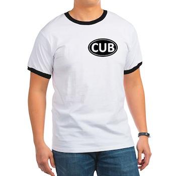 CUB Black Euro Oval Ringer T