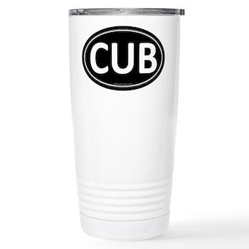CUB Black Euro Oval Stainless Steel Travel Mug